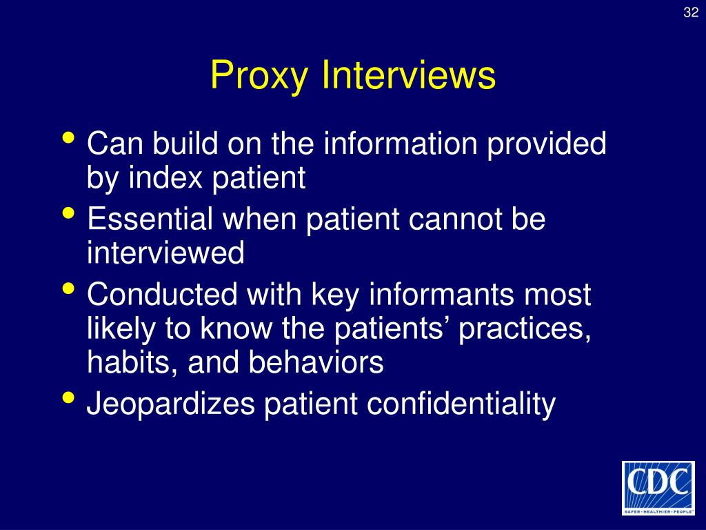 Proxy Interviews