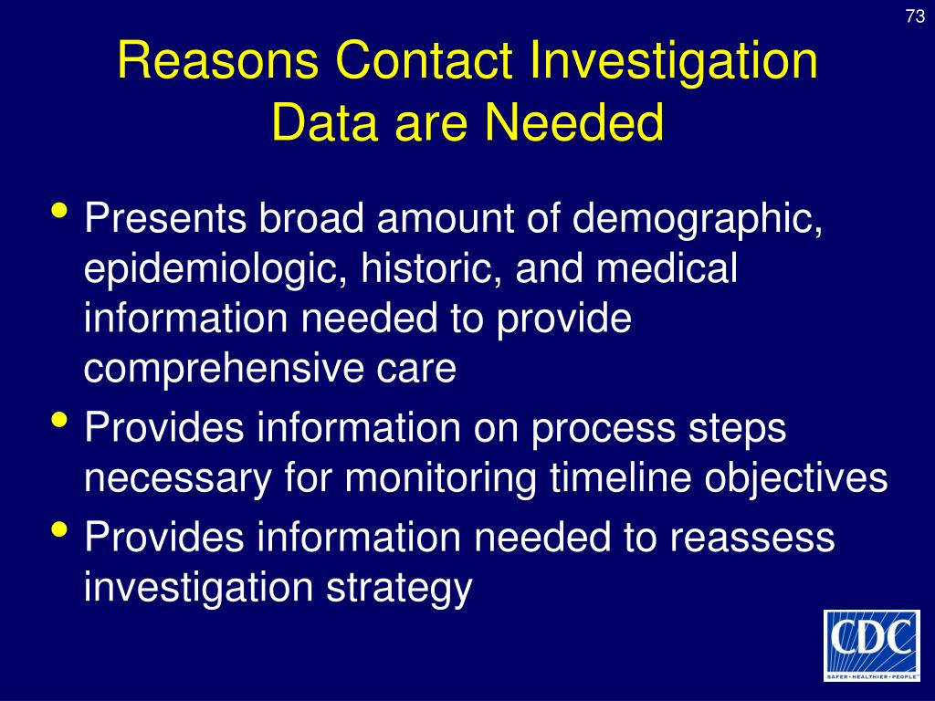 Reasons Contact Investigation