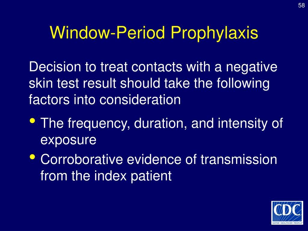 Window-Period Prophylaxis