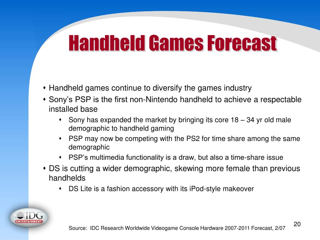 Handheld Games Forecast
