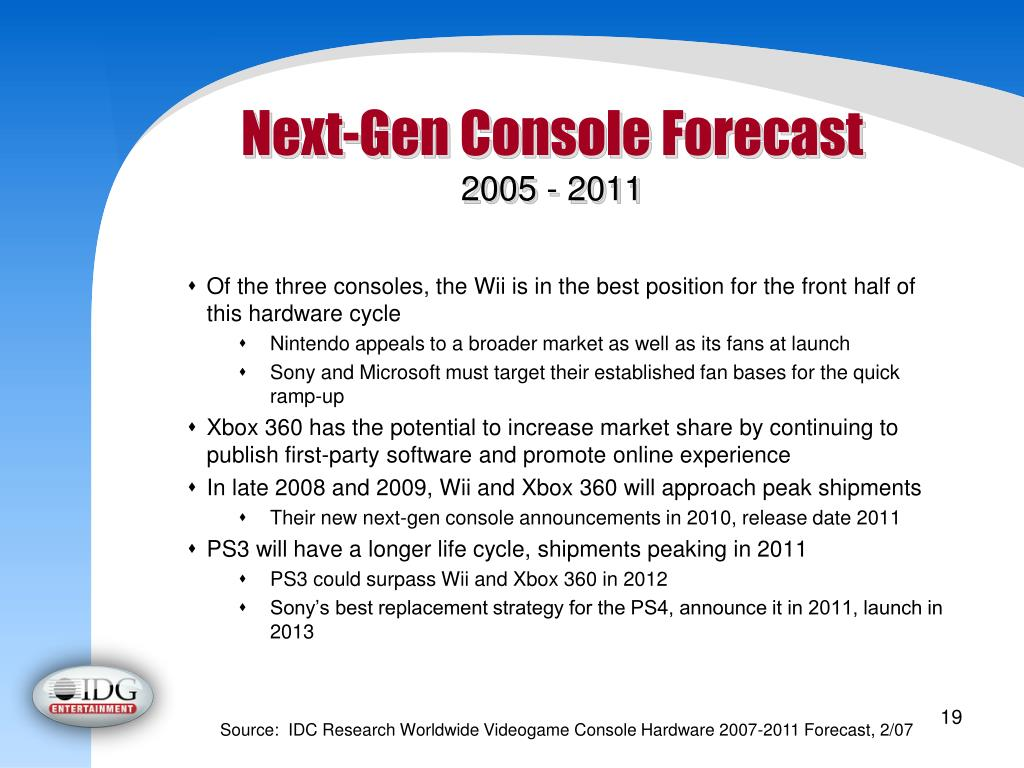 Next-Gen Console Forecast