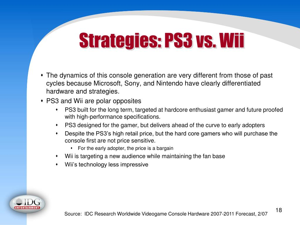 Strategies: PS3 vs. Wii