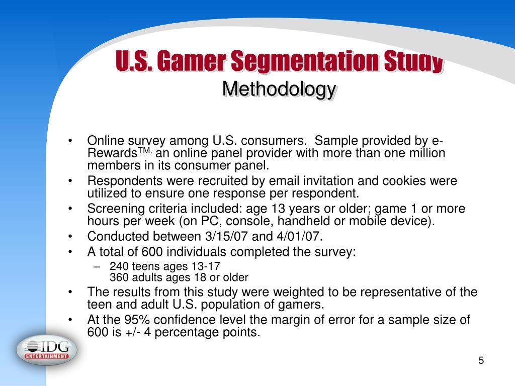 U.S. Gamer Segmentation Study