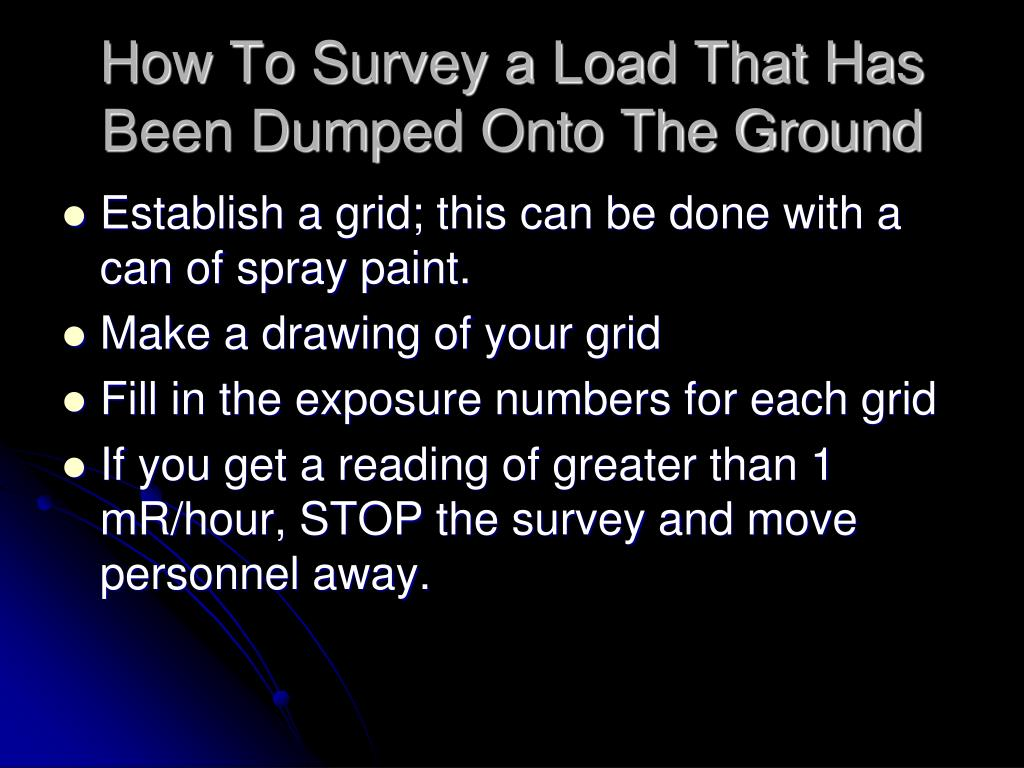 How To Survey a Load That Has Been Dumped Onto The Ground
