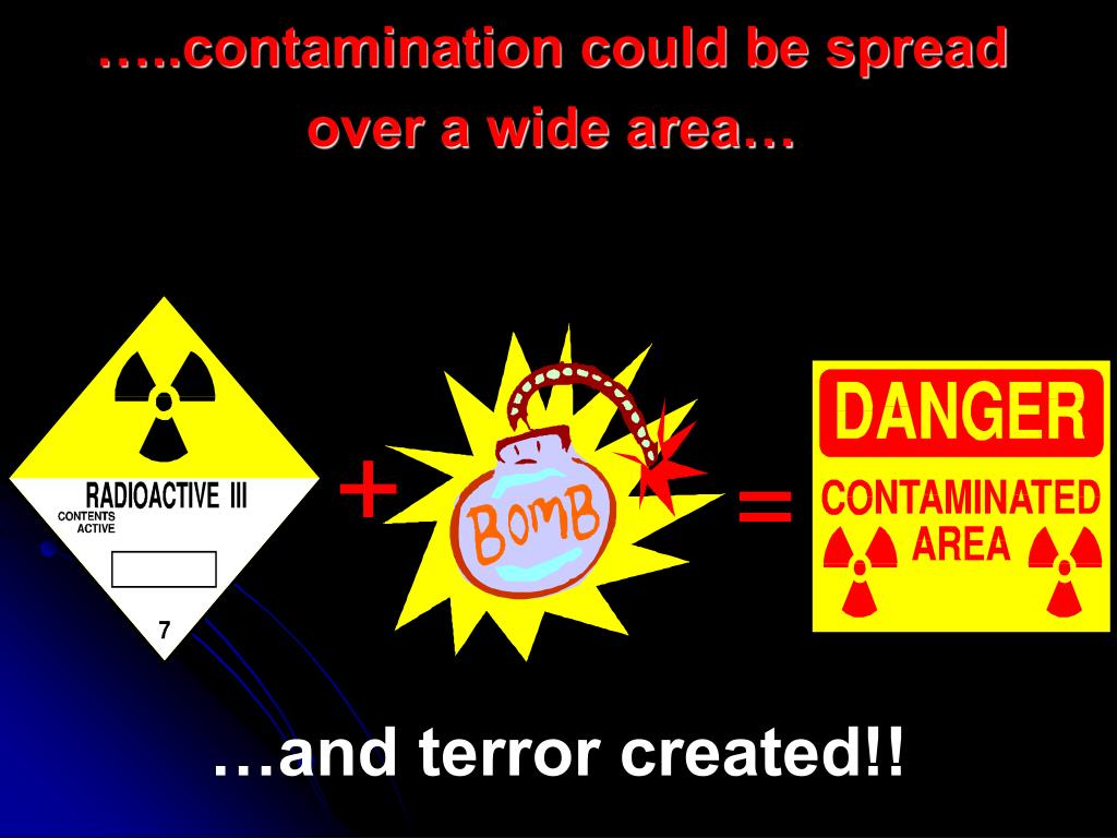 …..contamination could be spread over a wide area…