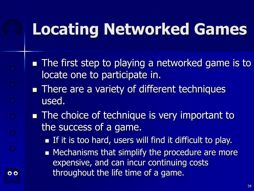 Locating Networked Games