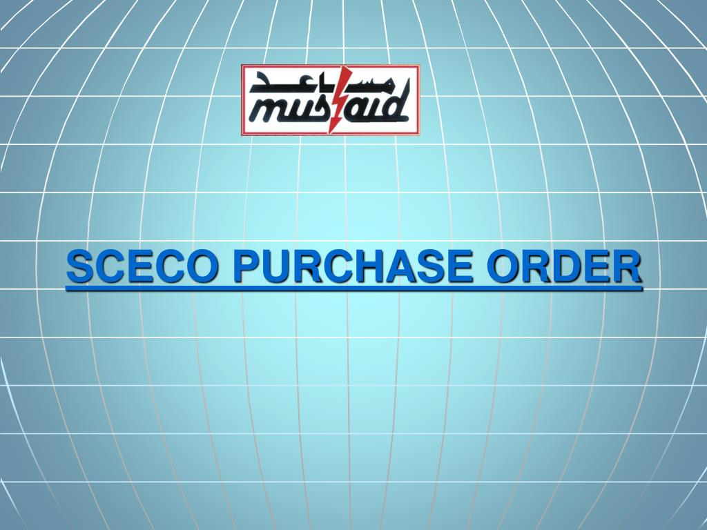 SCECO PURCHASE ORDER
