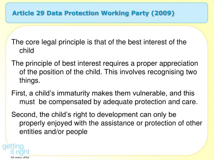 Article 29 Data Protection Working Party (2009)
