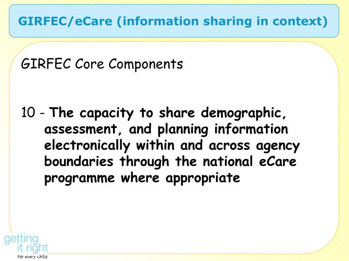 GIRFEC/eCare (information sharing in context)
