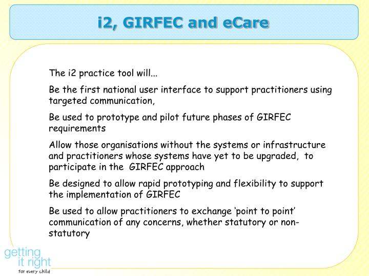 i2, GIRFEC and eCare