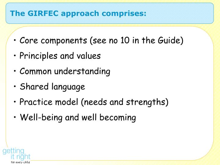 The GIRFEC approach comprises: