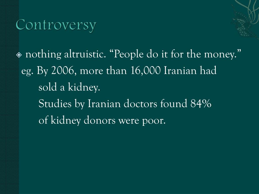 Organ Donation and Organ Selling - PowerPoint PPT Presentation