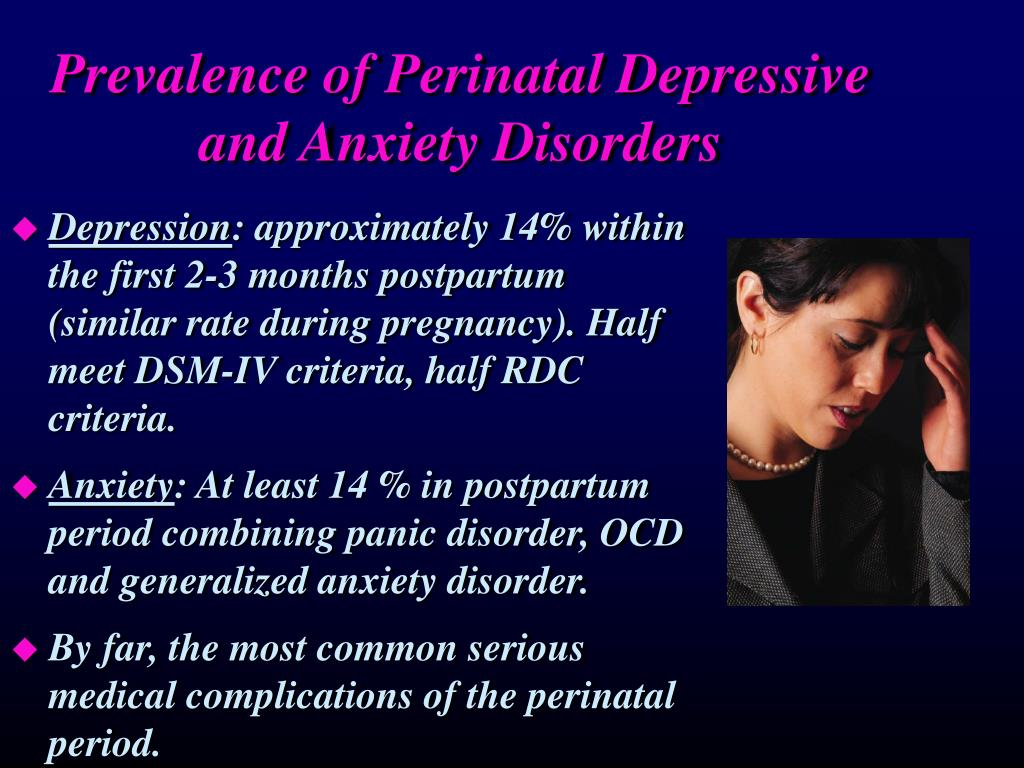 Prevalence of Perinatal Depressive and Anxiety Disorders