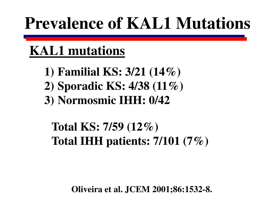 Prevalence of KAL1 Mutations