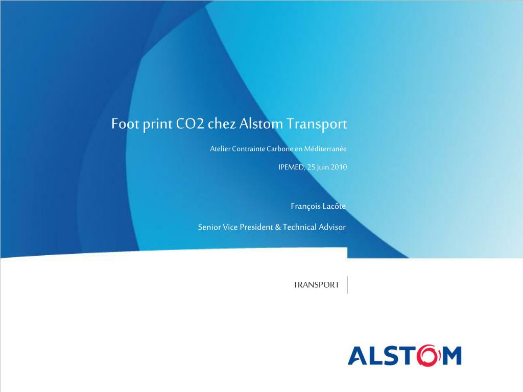 Foot print CO2 chez Alstom Transport