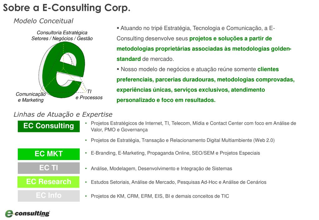Sobre a E-Consulting Corp.