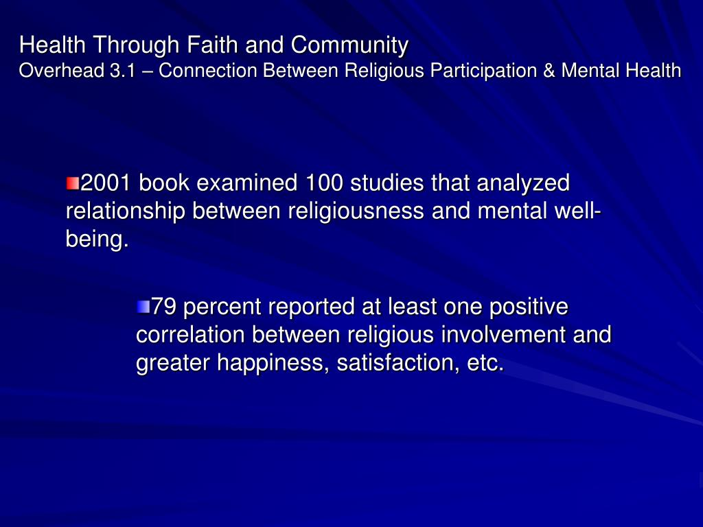 Health Through Faith and Community