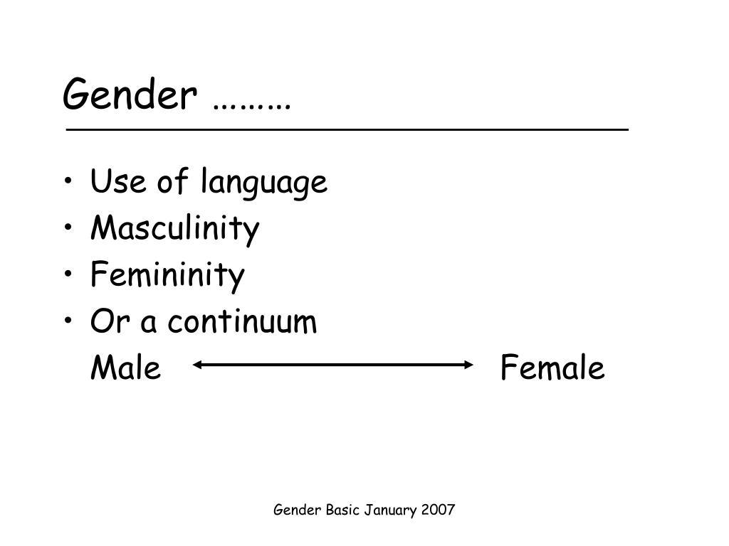Gender ………