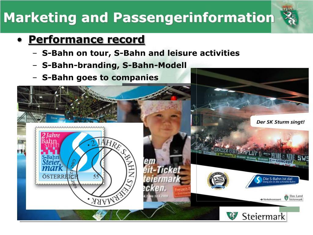 Marketing and Passengerinformation