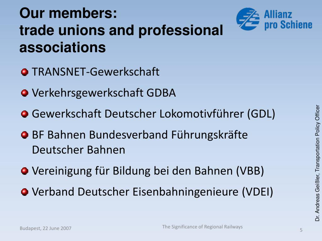 Our members: