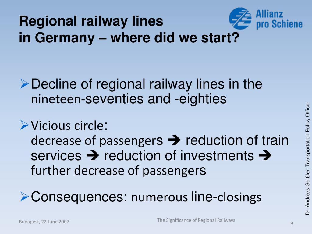 Regional railway lines