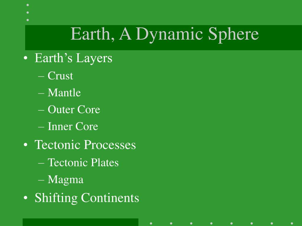 Earth, A Dynamic Sphere
