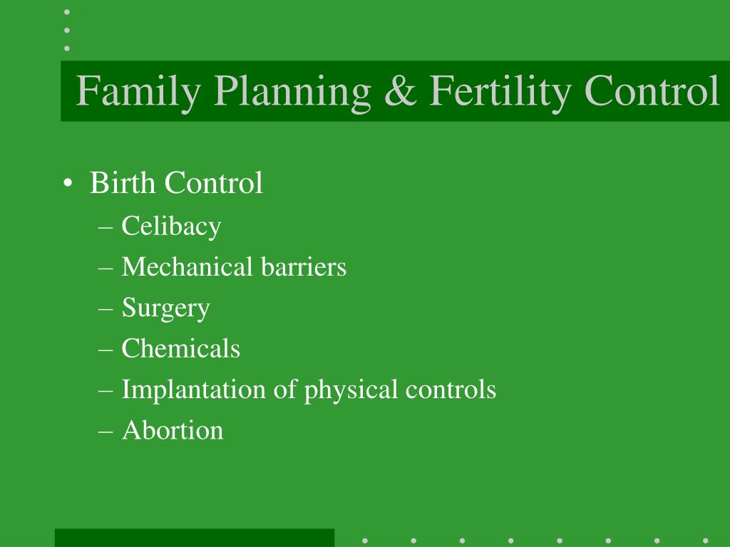 Family Planning & Fertility Control