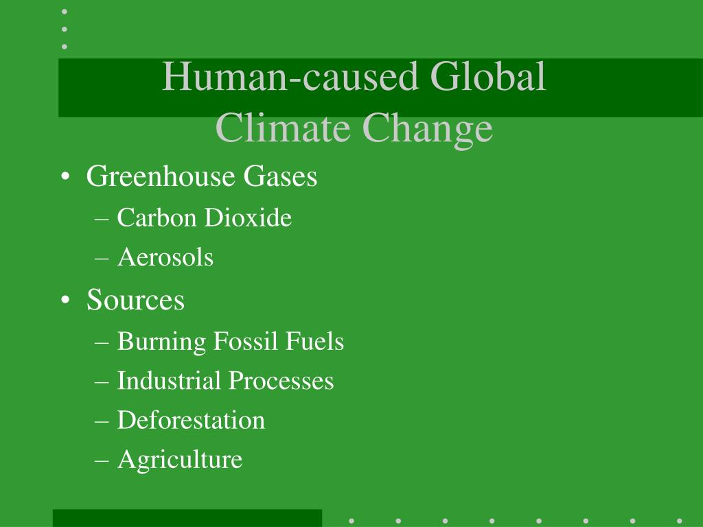 Human-caused Global