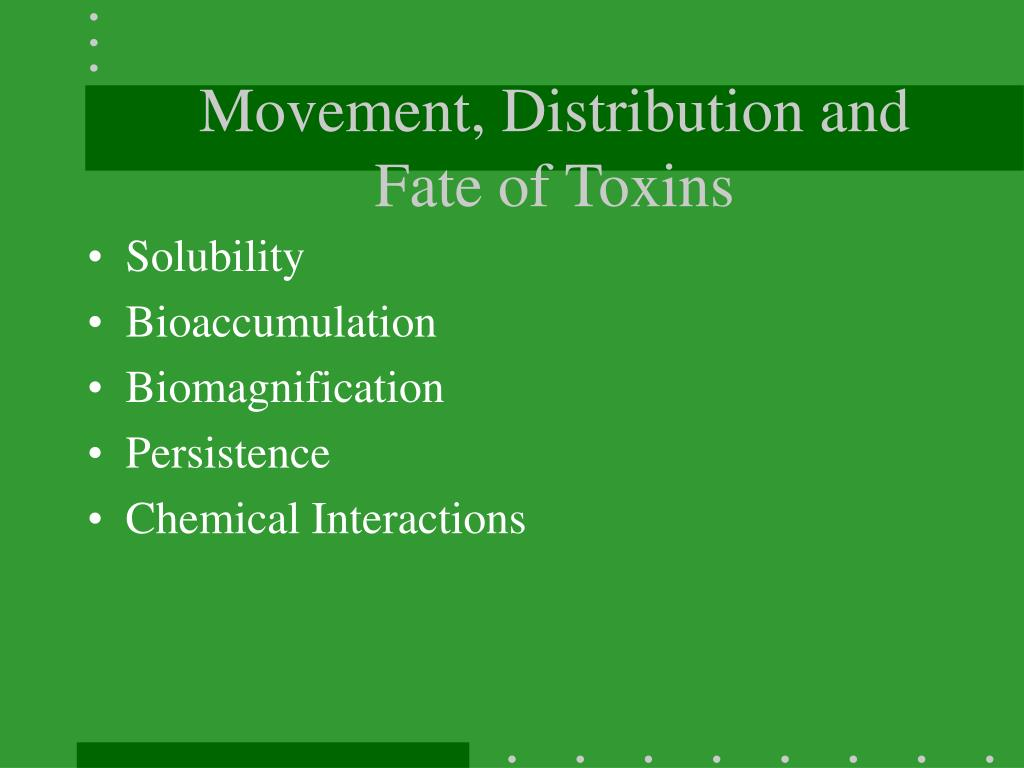 Movement, Distribution and