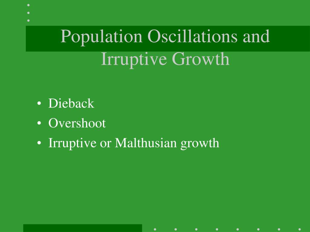 Population Oscillations and