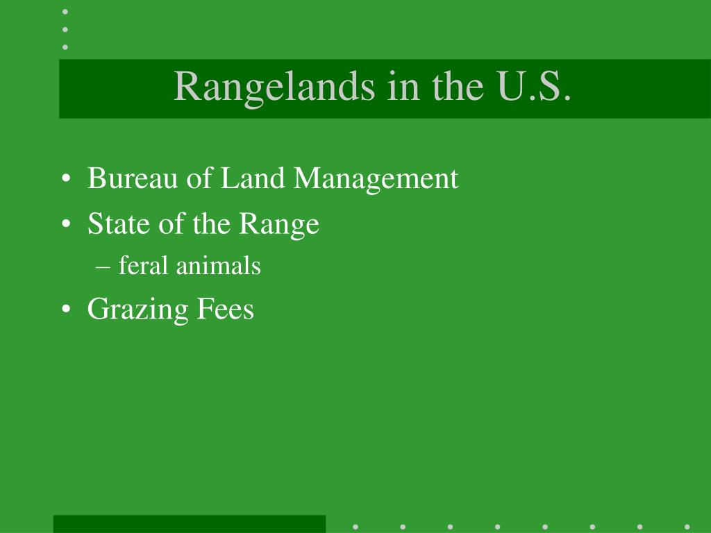 Rangelands in the U.S.