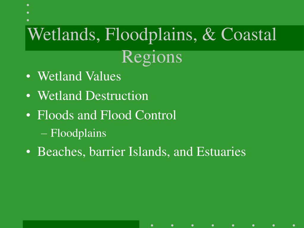 Wetlands, Floodplains, & Coastal Regions