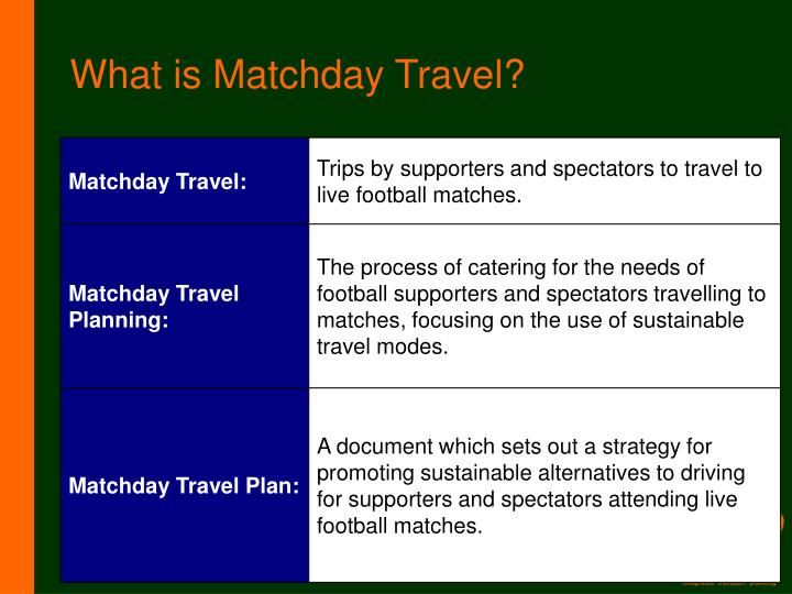 What is matchday travel