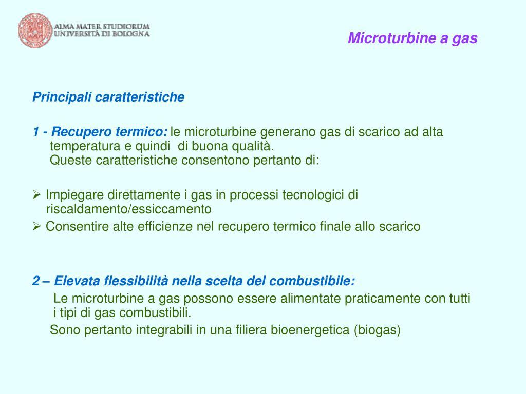 Microturbine a gas