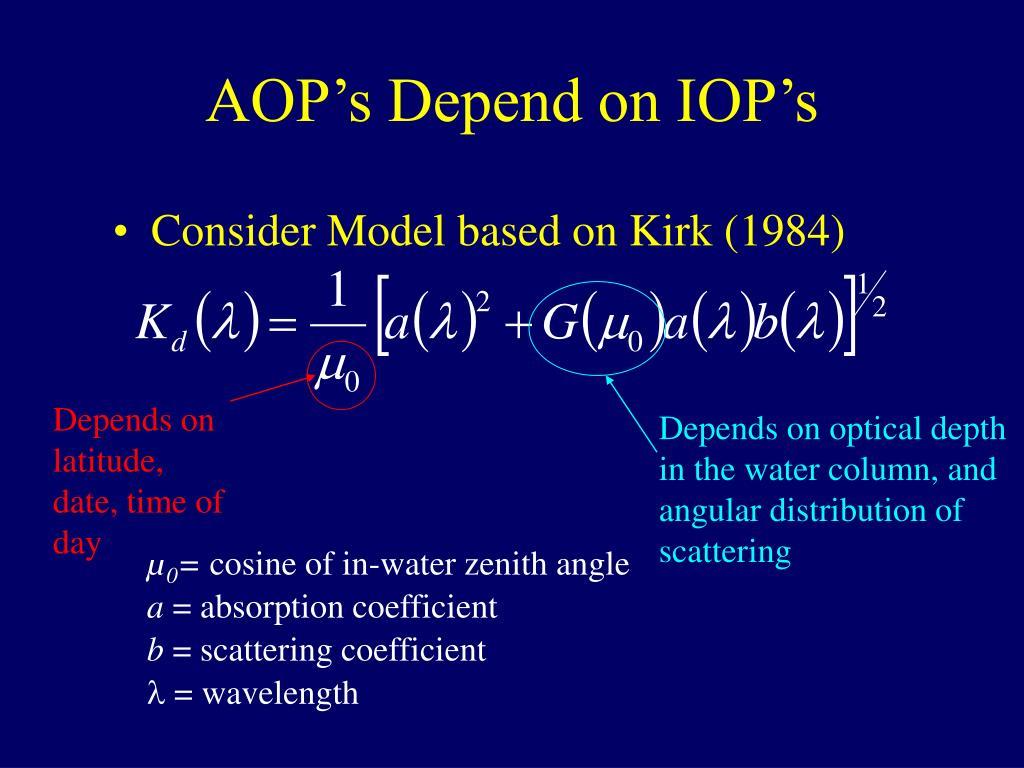 AOP's Depend on IOP's