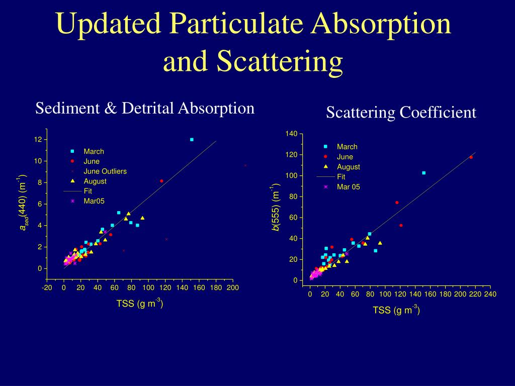 Updated Particulate Absorption and Scattering