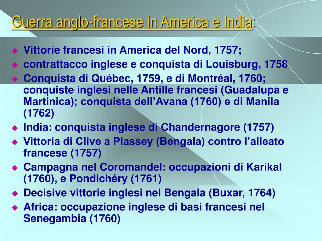 Guerra anglo-francese in America e India