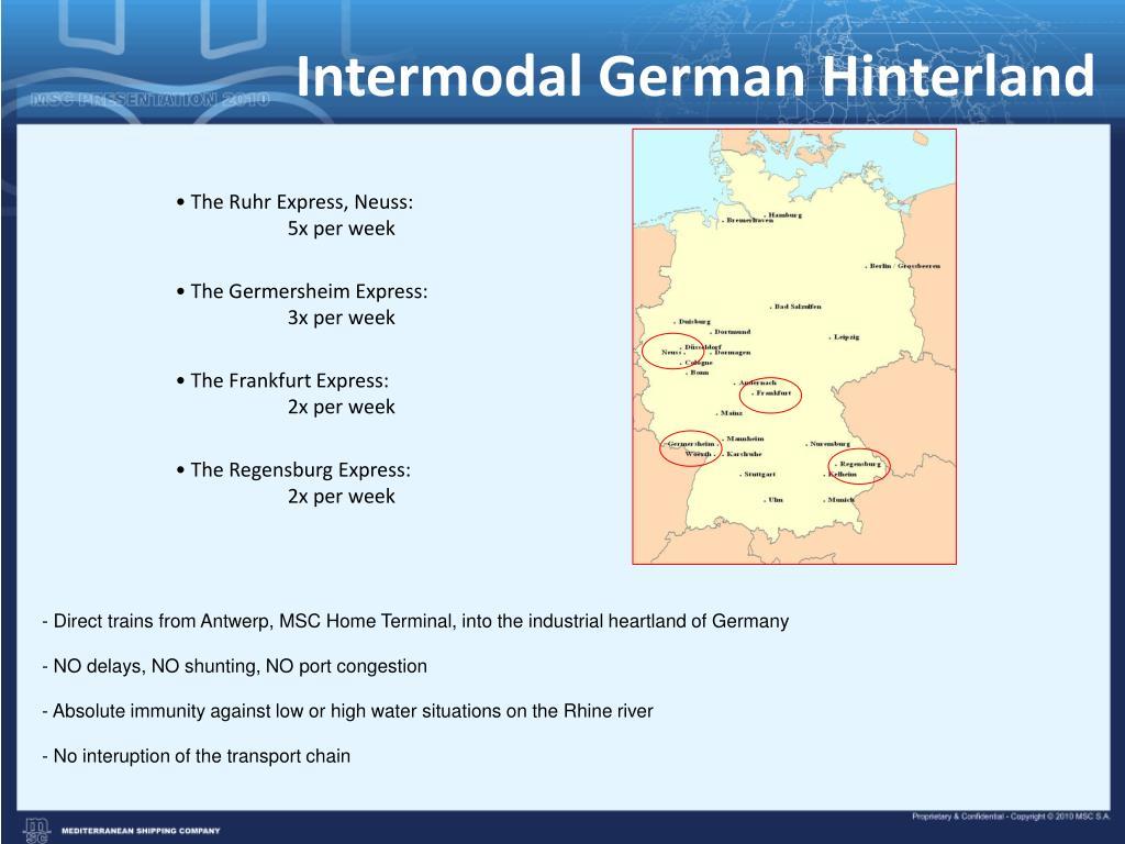 Intermodal German Hinterland