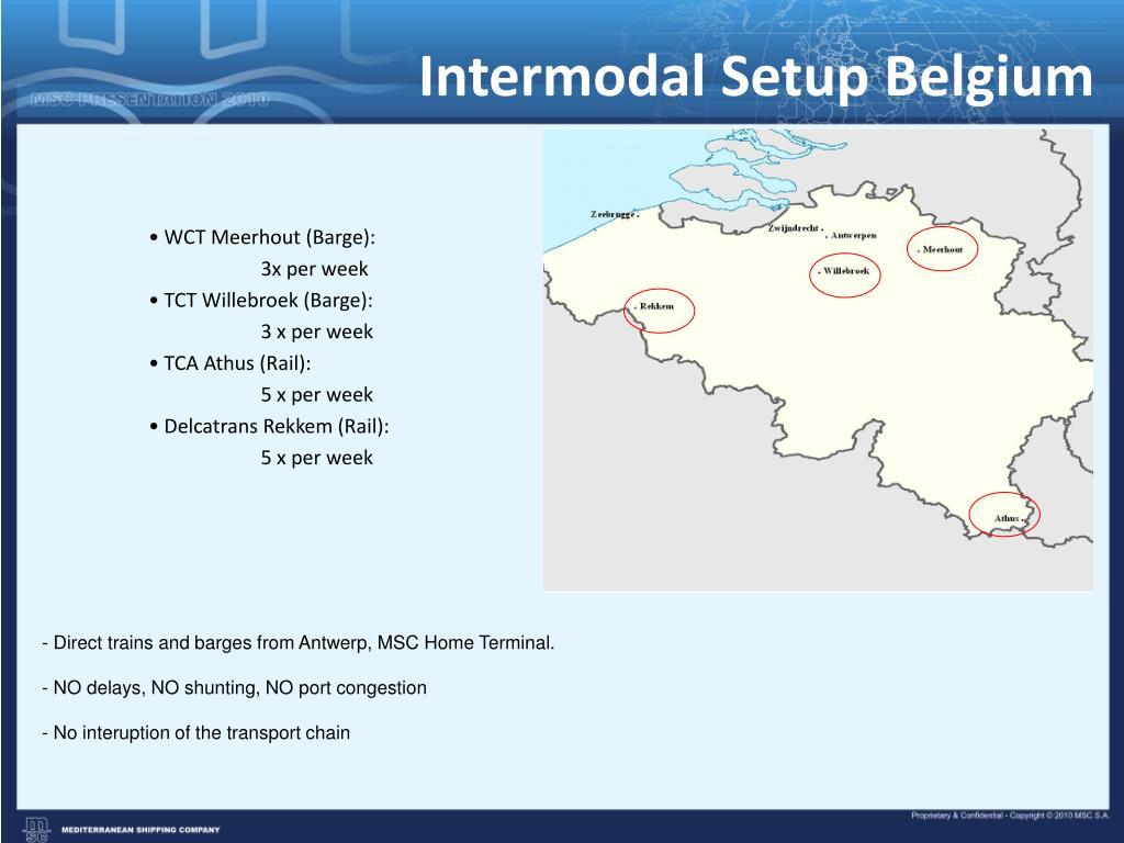 Intermodal Setup Belgium