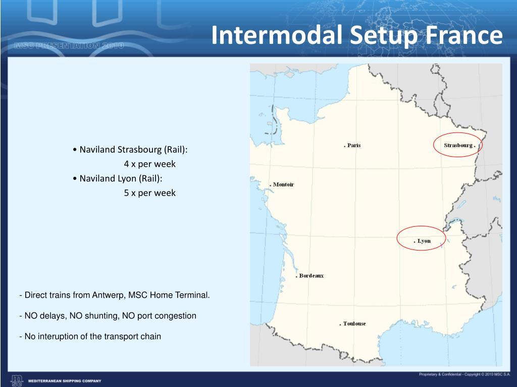 Intermodal Setup France