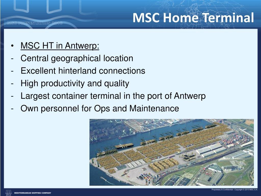 MSC Home Terminal