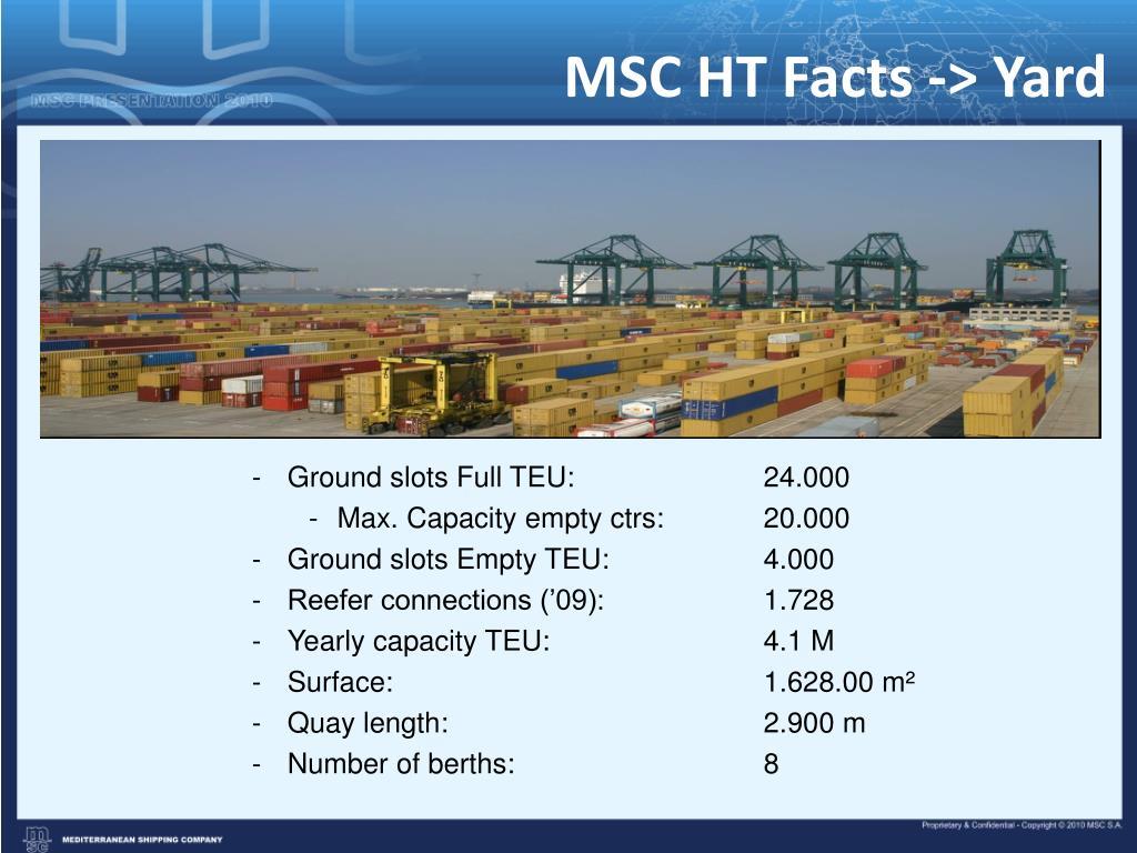 MSC HT Facts -> Yard