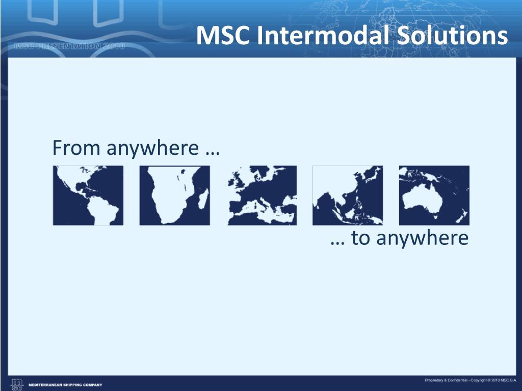 MSC Intermodal Solutions