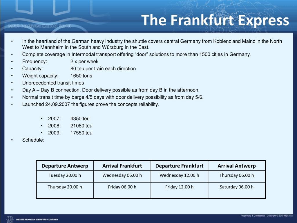 The Frankfurt Express