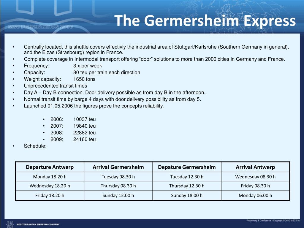 The Germersheim Express
