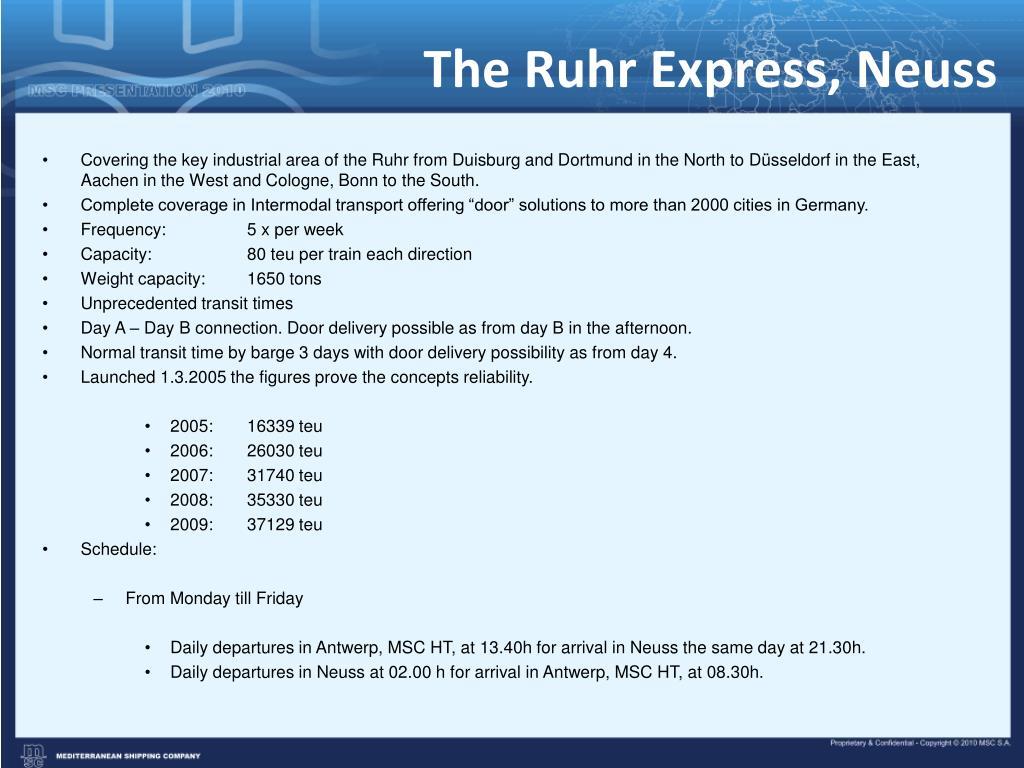 The Ruhr Express, Neuss
