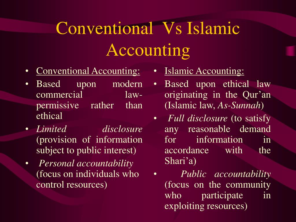 Conventional Accounting: