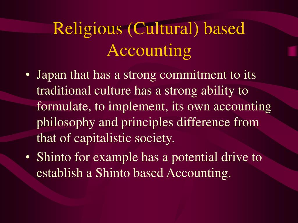 Religious (Cultural) based Accounting