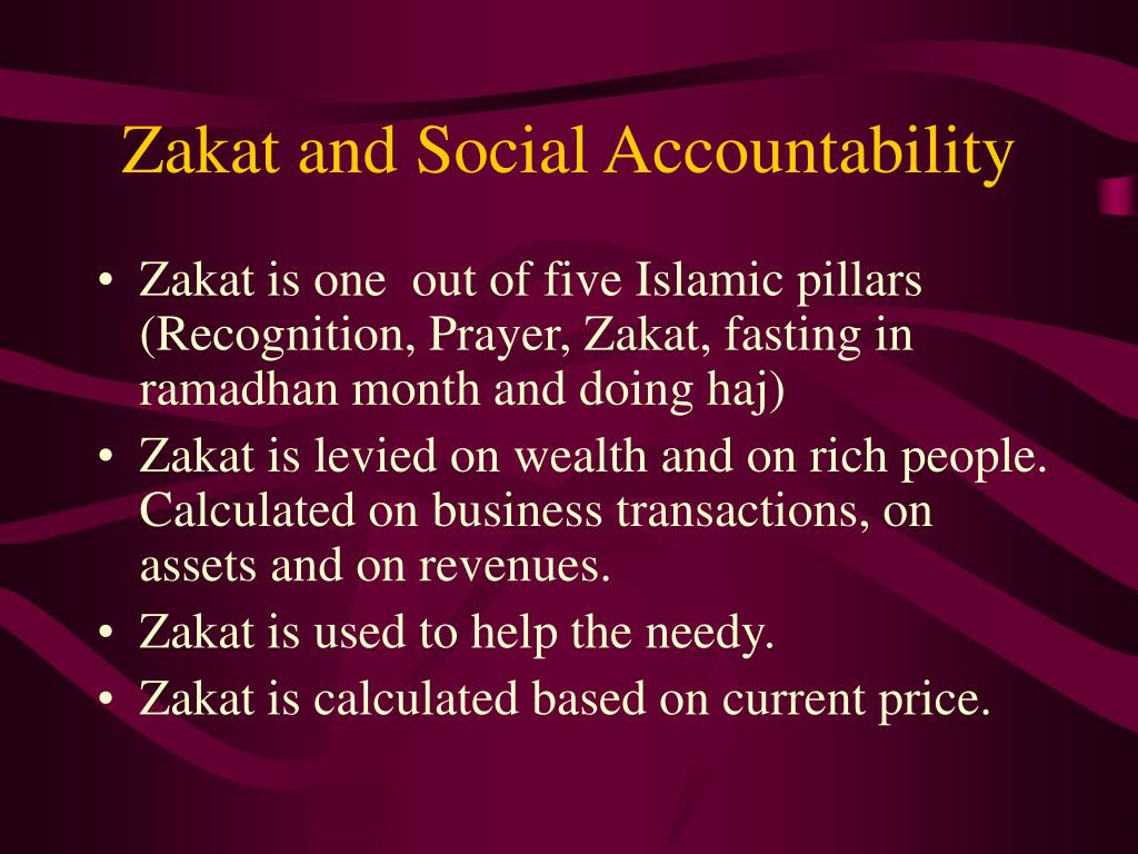 Zakat and Social Accountability