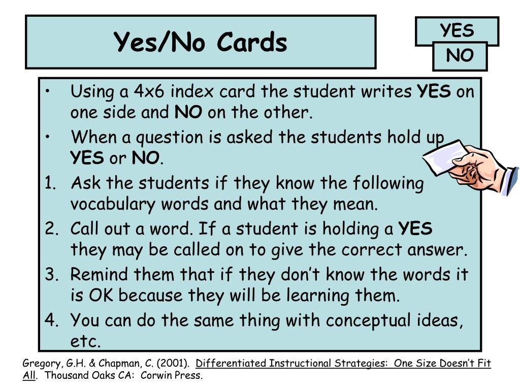 Yes/No Cards